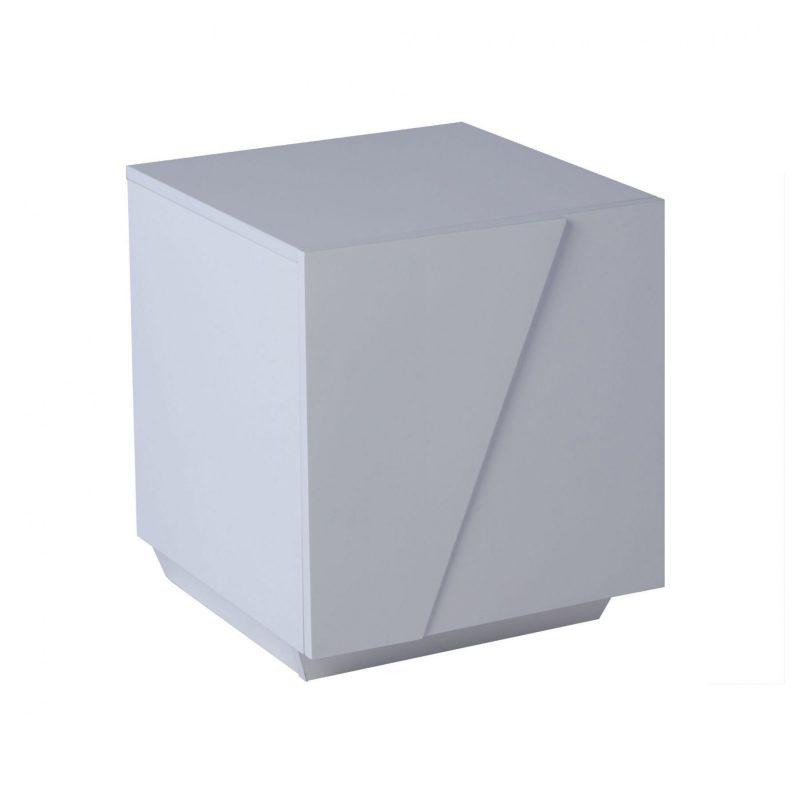 Glacier white high gloss bedside cabinet GILLMORESPACE FADS Furniture & Design Studio