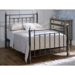 Libra-black-with-crystal-finials-bed-frame-metal-2