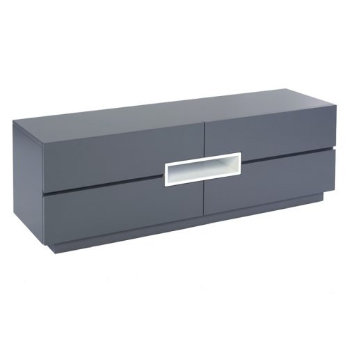 Matt graphite grey tv media unit Low-TV-sideboard---Savoye-GRAPHITE-with-WHITE-accent