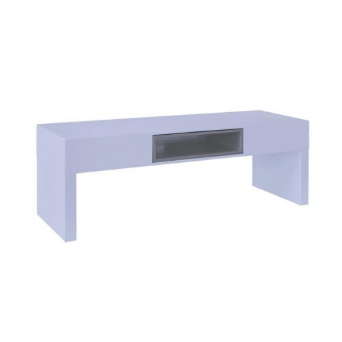 Low-TV-stand--table---Savoye-WHITE-with-STONE-accent