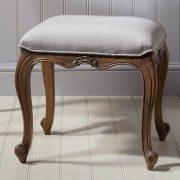 Madeleine weathered ash dressing table stool