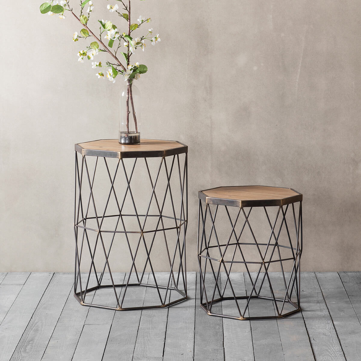 Wesley wire work side tables industrial style fads wesley wire work side tables greentooth Images
