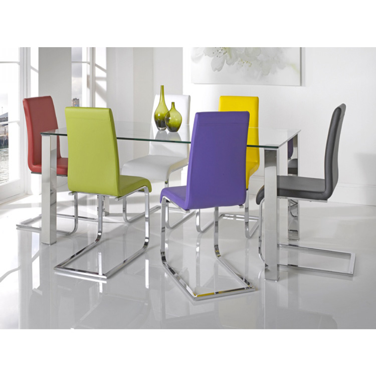 Mezzi Dining Table Multi Colour Chairs