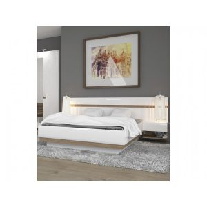 Mode-bedside-extension-white-gloss-and-oak-1