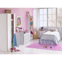 Modern-kiddi-bookcase-white-and-pink-assembled-1