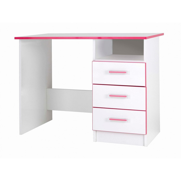 Modern Kiddi Pink & White Desk | Kids Furniture | FADS