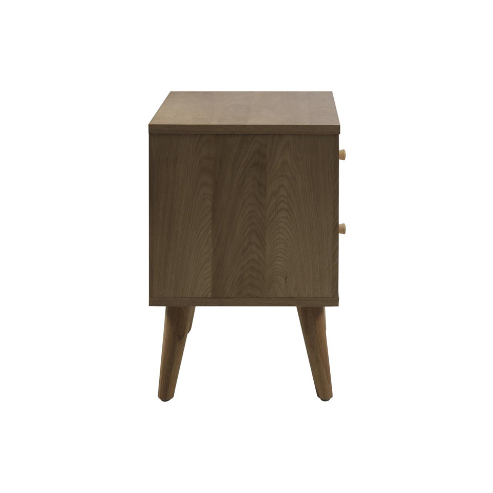 Oslo Bedside Table with 2 Drawers