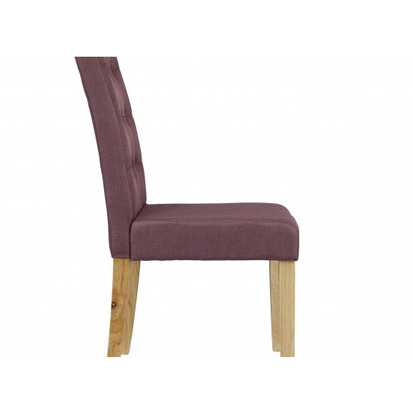 Roma Buttoned Back Plum Fabric Dining Chairs Free Delivery FADS