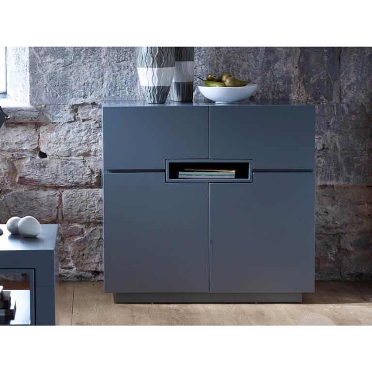 matt graphite grey Tall-sideboard---Savoye-GRAPHITE-with-GRAPHITE-accent-2