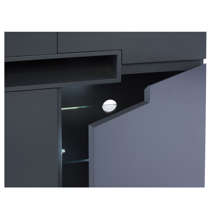matt graphite grey Tall-sideboard---Savoye-GRAPHITE-with-GRAPHITE-accent-4