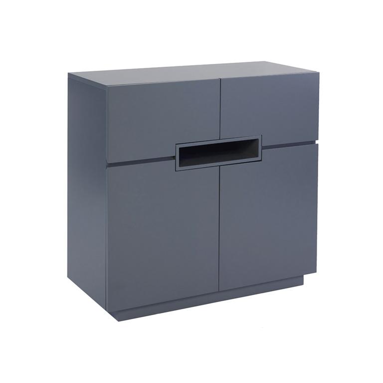 Matt graphite grey Tall-sideboard---Savoye-GRAPHITE-with-GRAPHITE-accent