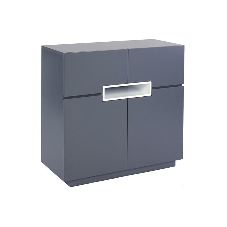 Matt graphite grey Tall-sideboard---Savoye-GRAPHITE-with-WHITE-accent
