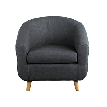 Turin Tub Chair in Grey at FADS.co.uk