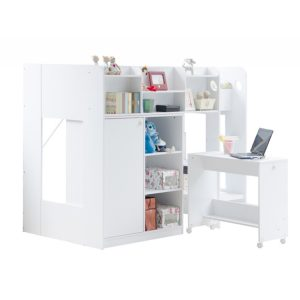 Wizard-white-high-sleeper-bed-workstation