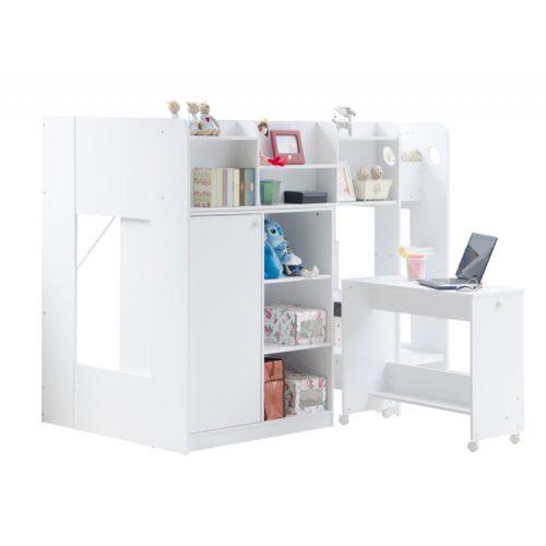 Wizard-white-high-sleeper-bed-workstation