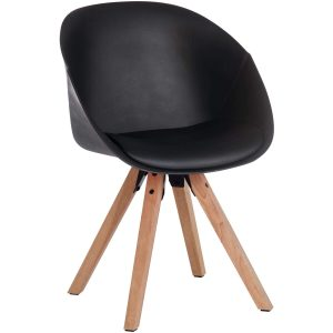 Zula Black Padded Chair at FADS.co.uk