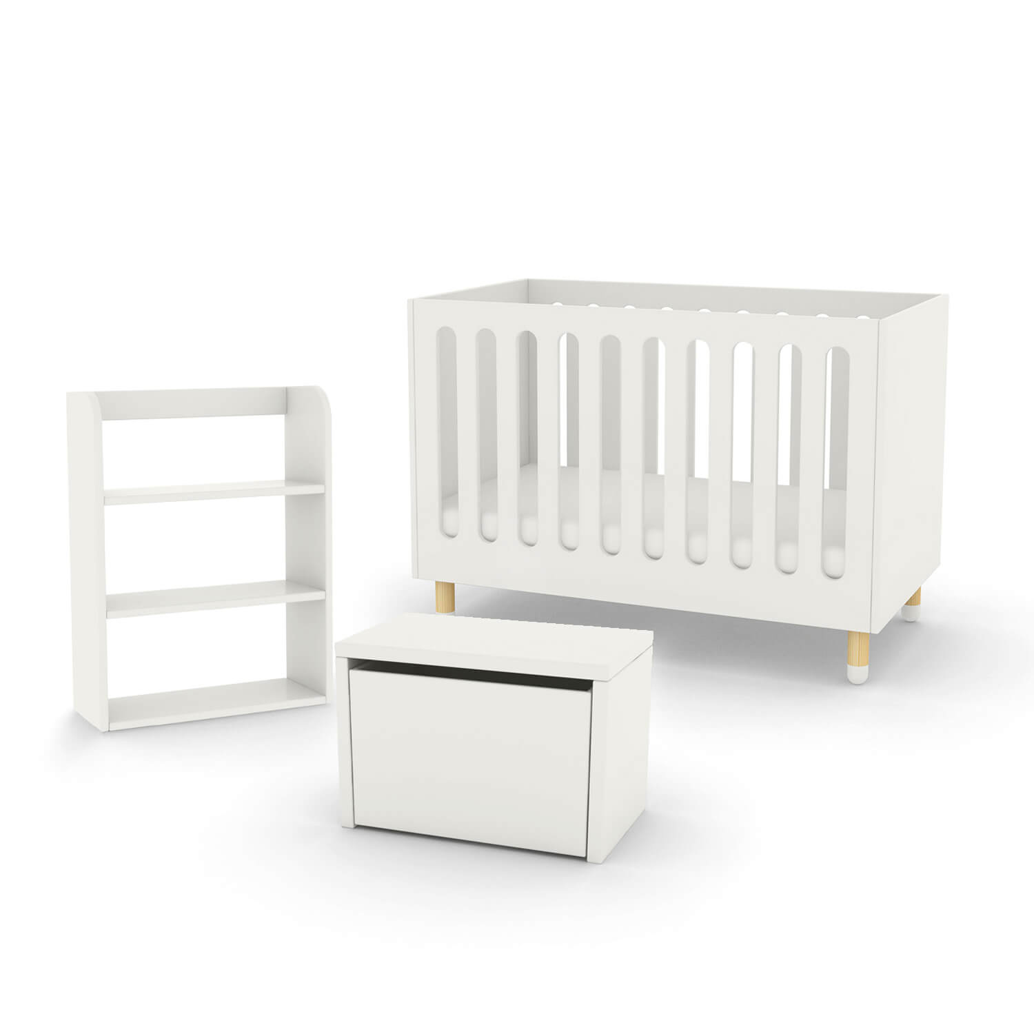 Flexa Play Cot Bed Storage Bench And Bookcase Fads # Meuble Tv Rose
