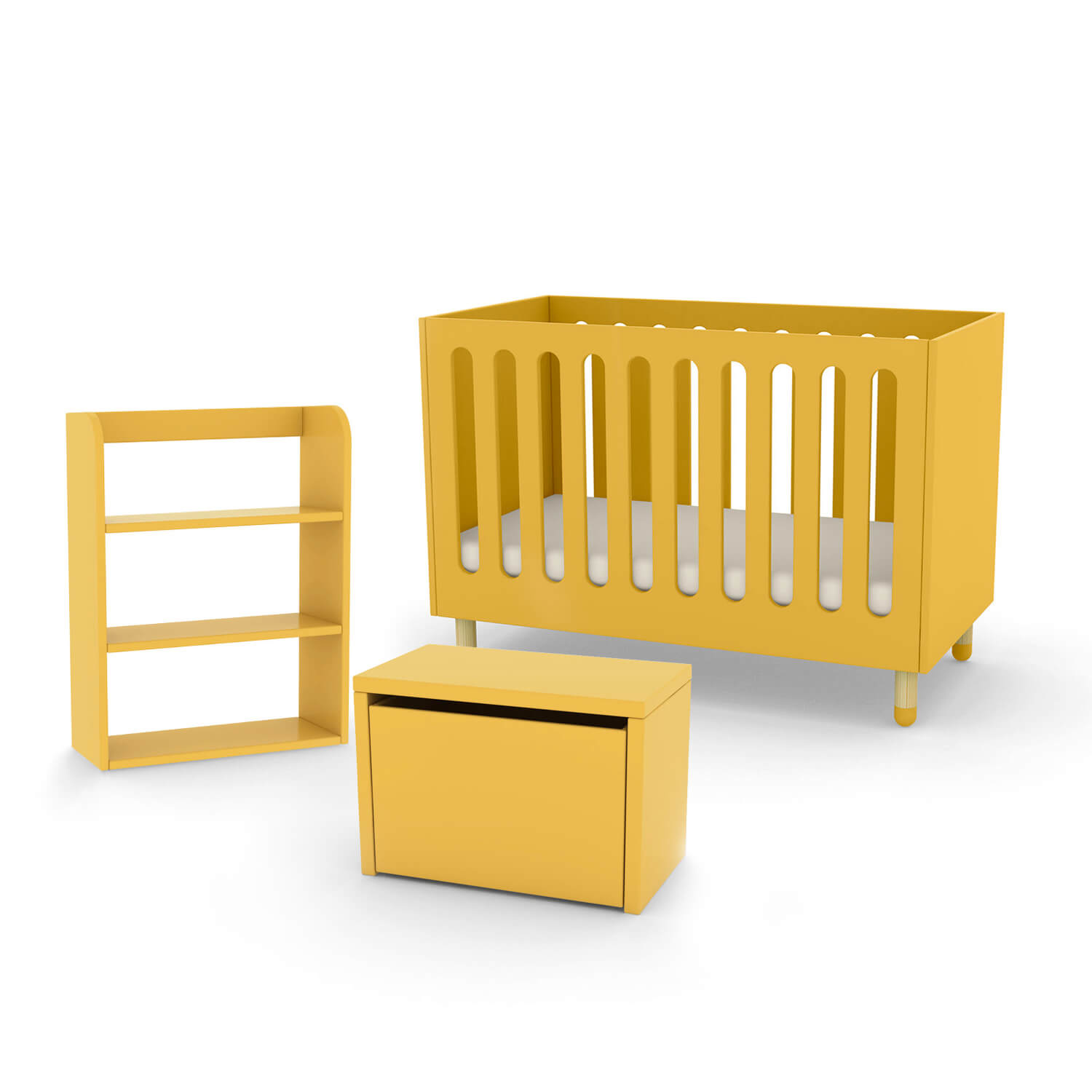 Bookcase Bench: FLEXA Play Cot Bed, Storage Bench And Bookcase