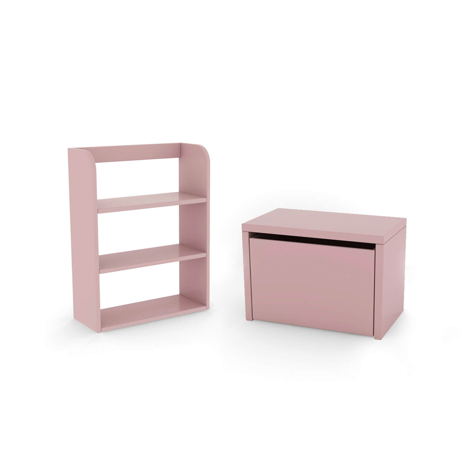 FLEXA Play Storage Bench and Bookcase Set (Colour: Rose)