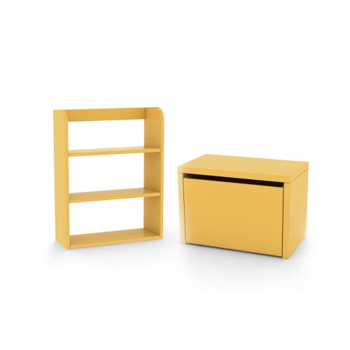 flexa-bundle-bench-bookcase-yellow