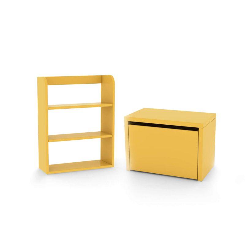 flexa-bundle-bench-bookcase-yellow