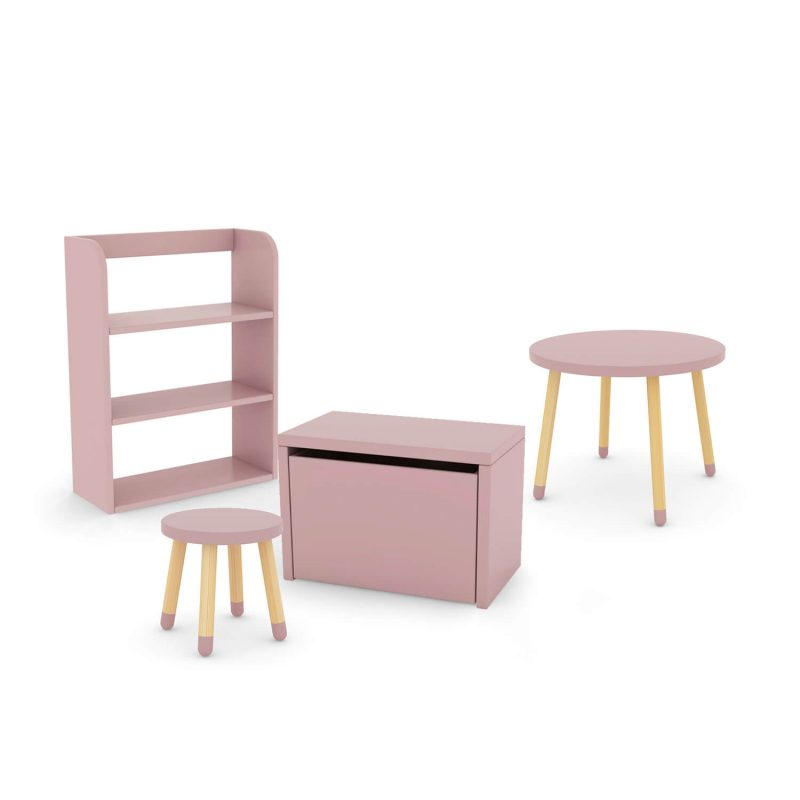 flexa-bundle-table-stool-pink