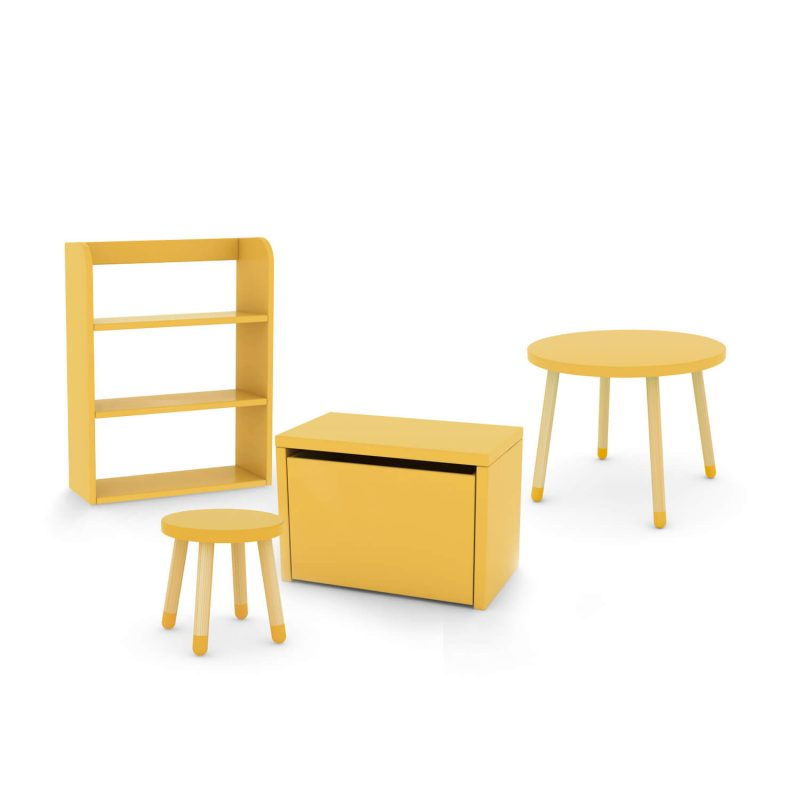 flexa-bundle-table-stool-yellow