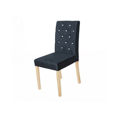 Paris Black Velvet Dining Chair