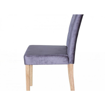 Paris Silver Velvet Dining Chair