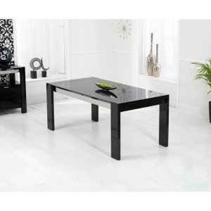 Sofia High Gloss Black Dining Table at FADS.co.uk