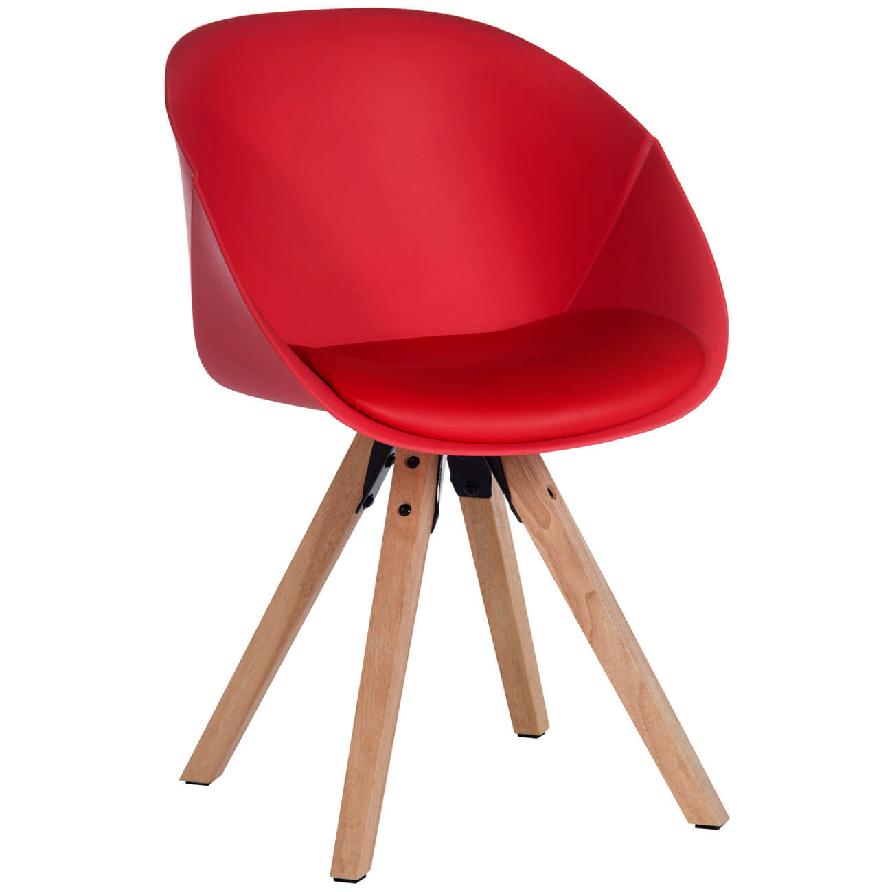 Zula Padded Tub Dining Chair Red (Pairs)