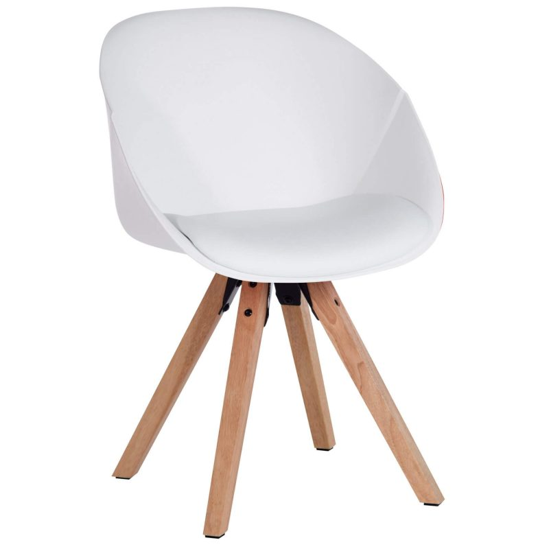 Zula White Padded Chair at FADS.co.uk