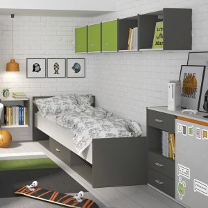Space childrens bedroom furniture room setting