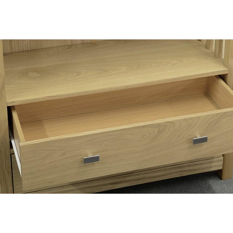 ashmore 2 drawer bookcase drawer detail