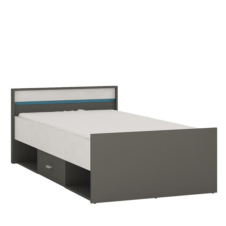 Space single bed blue trim