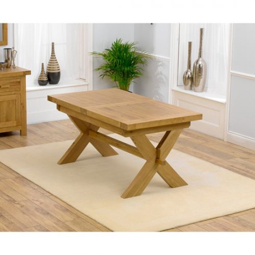 Lyon solid oak extendable dining table