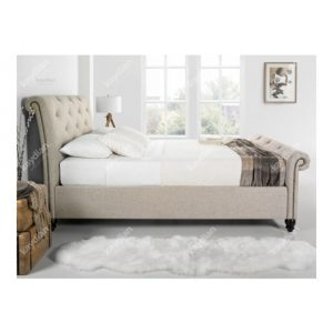 Belford-Scrolled-Bed-Frame-Oatmeal-Fabric-Kaydian