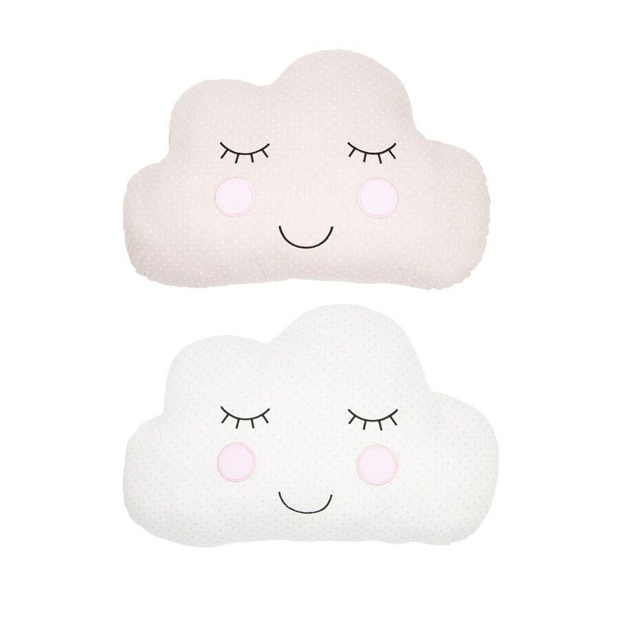 Beige and White Cloud Cushion 1