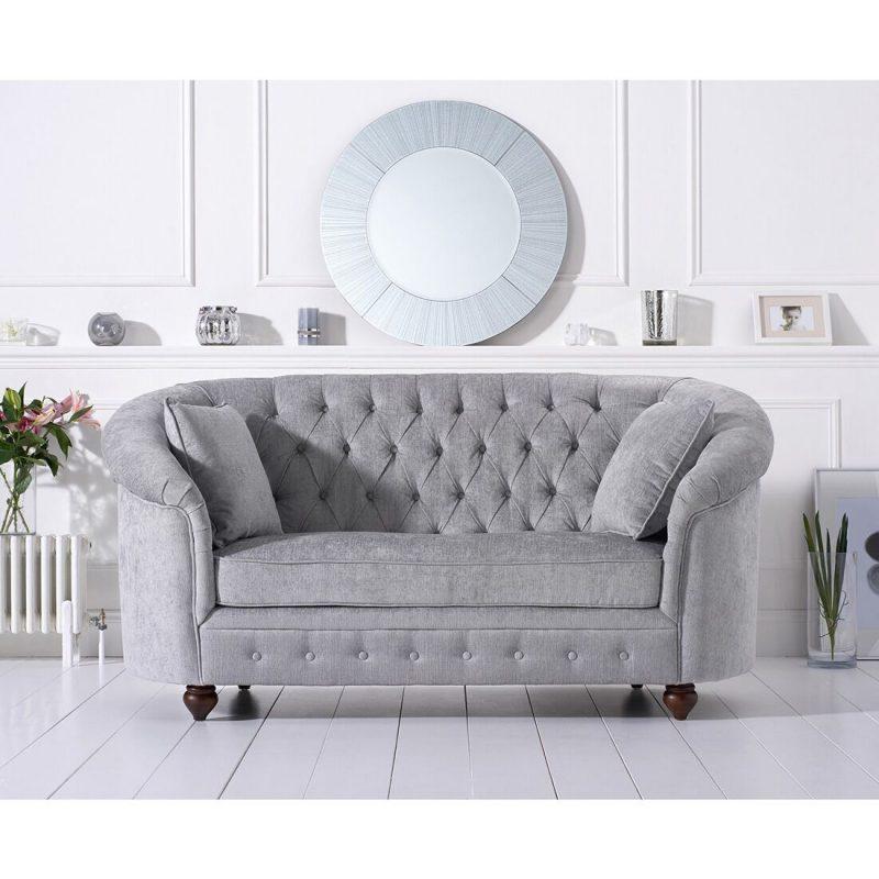 Emma Plush Grey Two Seater Sofa