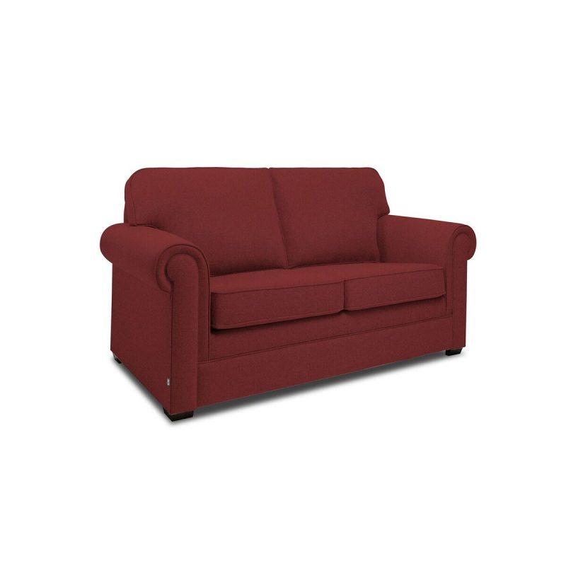 Classic 2 Seater Sofa Cranberry Angle