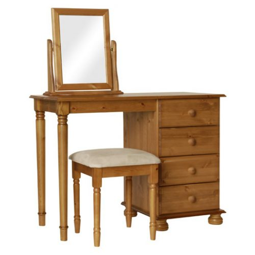 Copenhagen-pine-dressing-table-with-stool-and-mirror