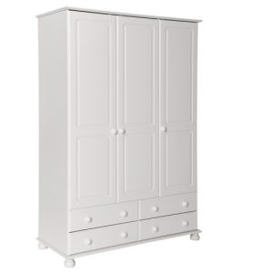Copenhagen-white-wardrobe-3-door-4-drawer