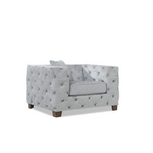 Fordham-grey-plush-armchair-corner-view