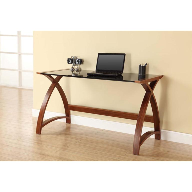 Jual-Curve-Laptop-Desk-Black-Glass-Room-Setting