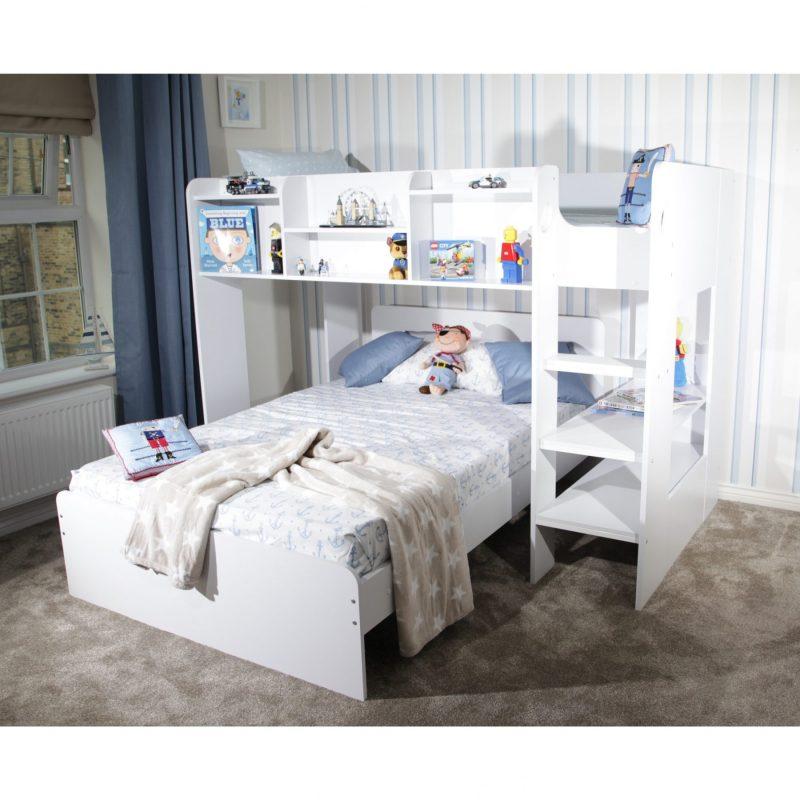 L Shaped Triple Sleeper Bunk Bed