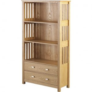 ashmore 2 drawer bookcase tall