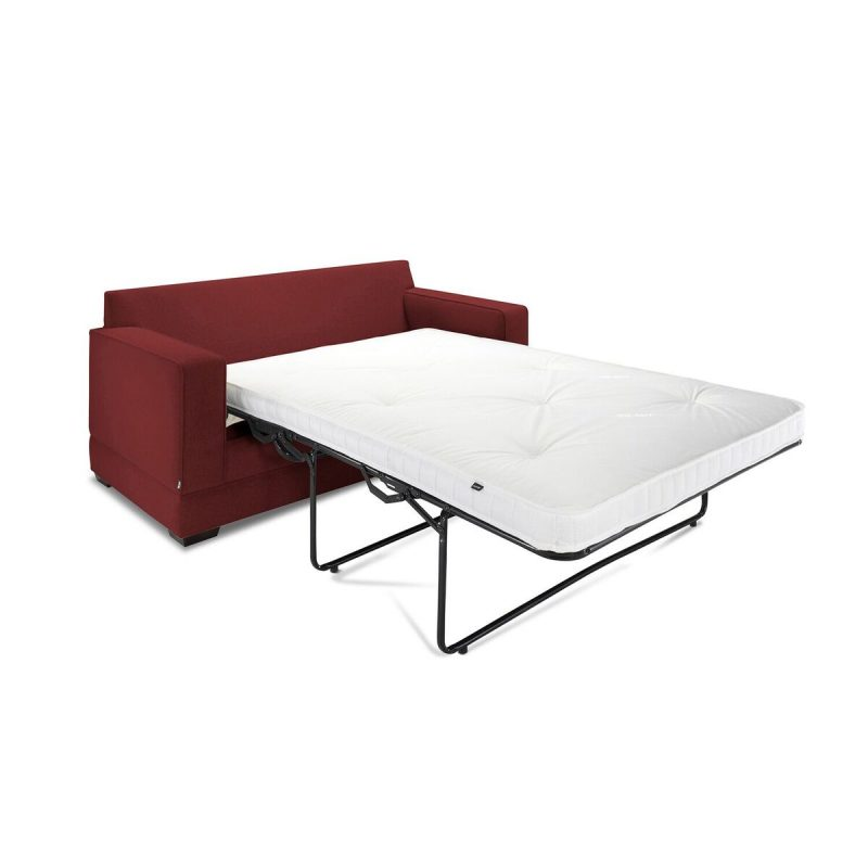 Modern Sofa Bed Angle Cranberry