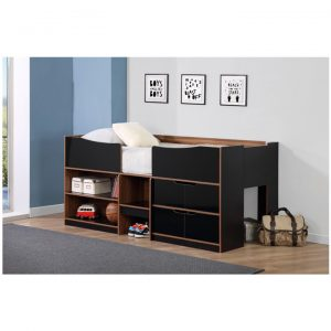 Paddington-cabin-bed-black-and-walnut