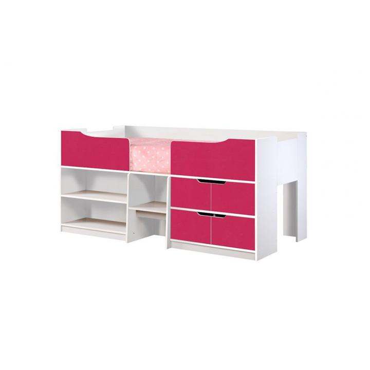 Paddington-cabin-bed-corner-detail-pink-and-white