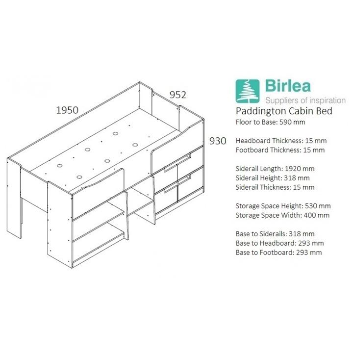 Paddington-cabin-bed-dimensions